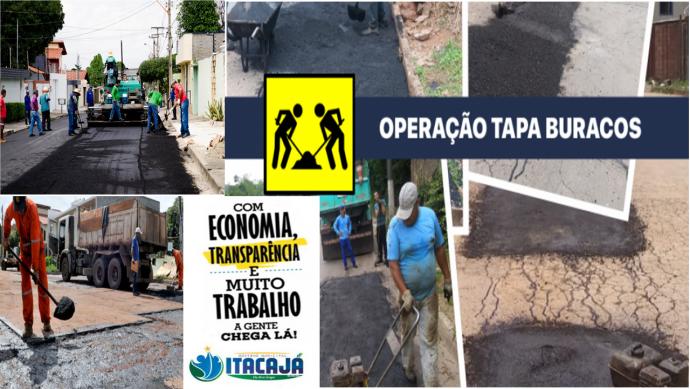 OPERAÇÃO TAPA BURACO EM ITACAJÁ